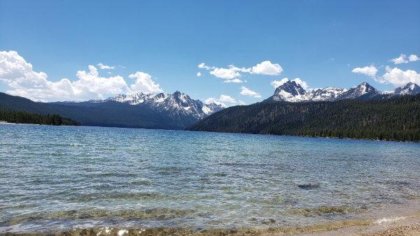 Glacial lake near Stanley, ID