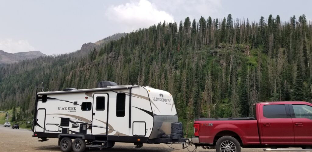 Truck on summit resting